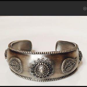 Satya Sterling Silver Paisley Cuff Bracelet — NWOT